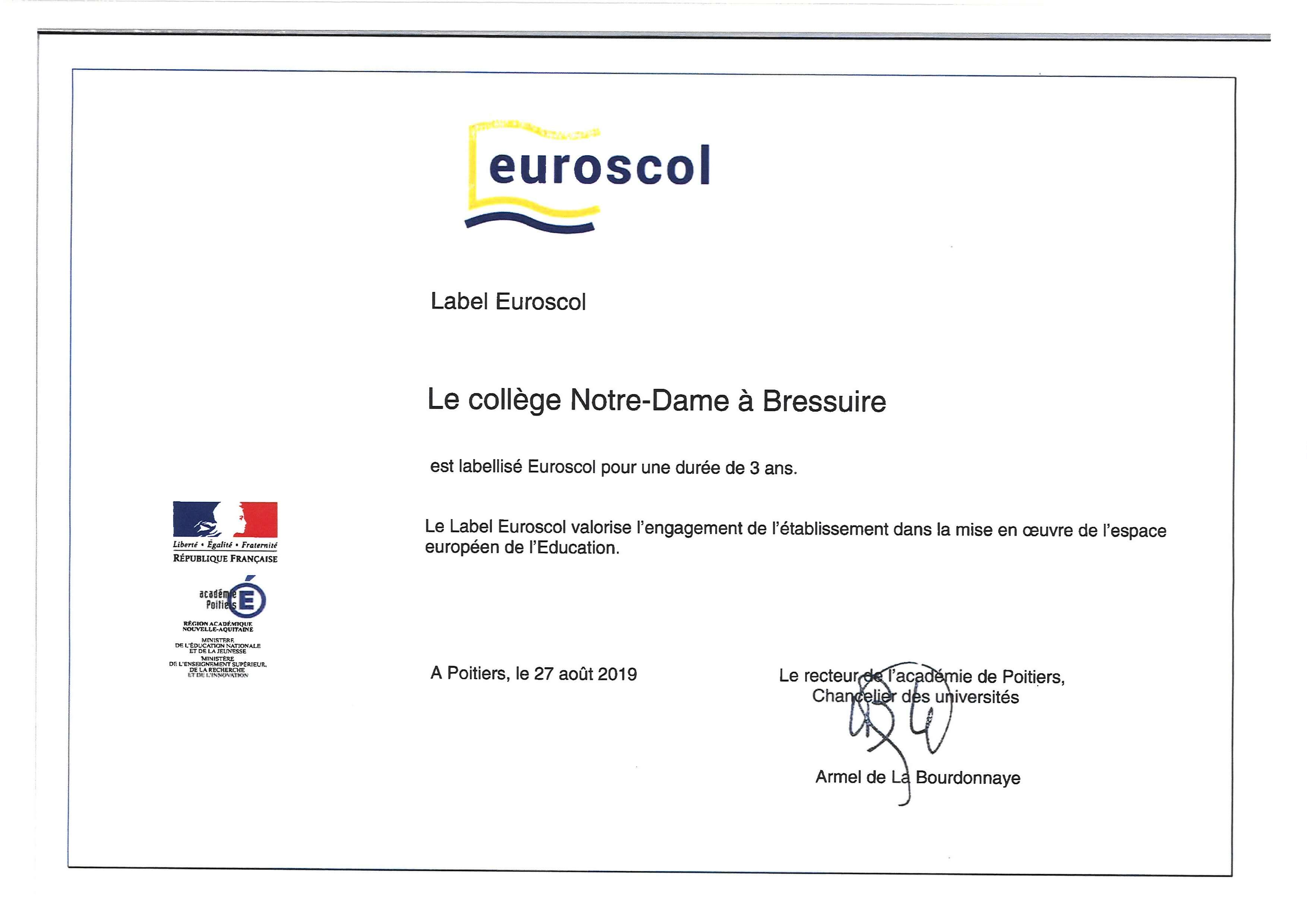 Label Euroscol