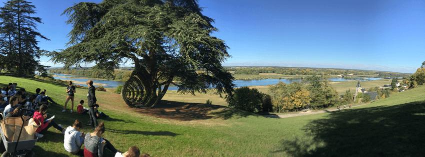 Chaumont-sur-Loire avec les élèves de 4ème