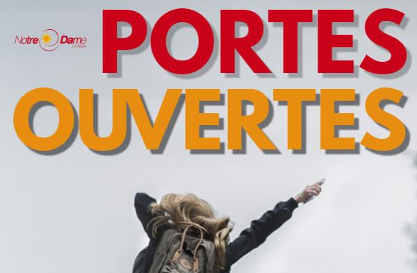 Portes Ouvertes – 14 mars 2019